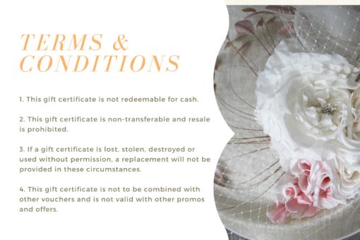 gift certificate oana millinery