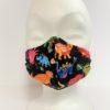 Face Mask Kids Dino Black by Oana Millinery