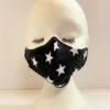 Face Mask Women Black With White Stars Women by Oana Millinery