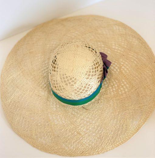 Fancy Straw Hat Claire by Oana Millinery