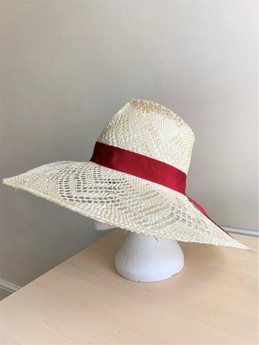 Hannah Fancy Straw Bespoke Hat made by Oana Millinery