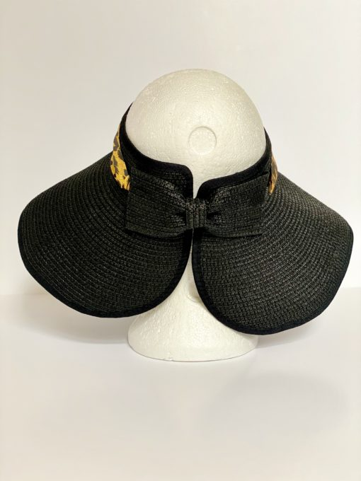 paper straw hat no top oana millinery animal print var 2 5