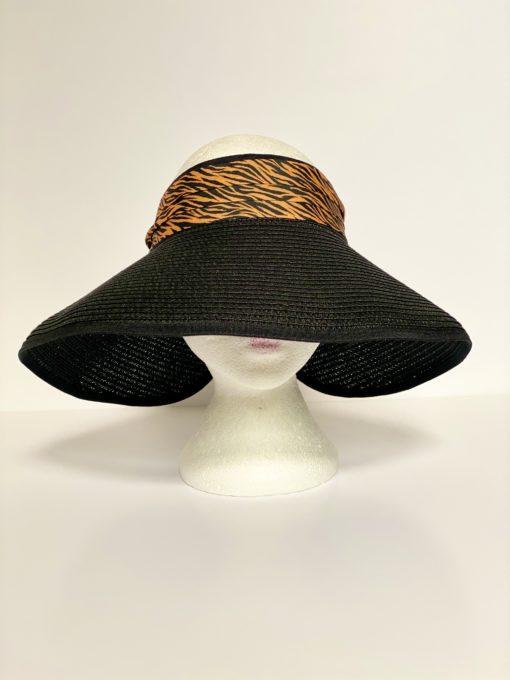 paper straw hat no top oana millinery animal print var1 2