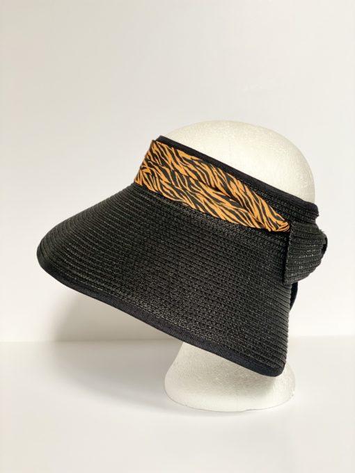 paper straw hat no top oana millinery animal print var1 3